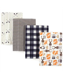 Flannel Burp Cloth, 4-Pack, One Size