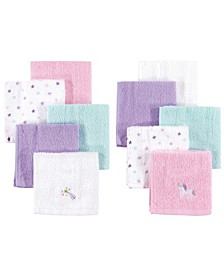 Woven Terry Washcloths, 8-Pack, One Size