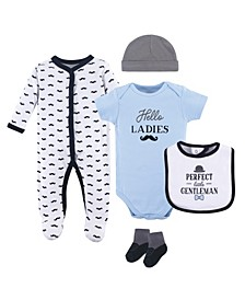 Sleeper, Bodysuits, Bibs, Cap and Socks Set, 5-Piece, 0-9 Months