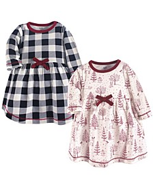 Big Girls Winter Woodland Youth Long-Sleeve Dresses, Pack of 2