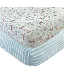 Touched By Nature Organic Fitted Crib Sheets, 2-Pack, One Size