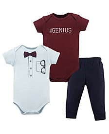 Bodysuits and Pants, 3-Piece Set