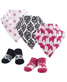 Yoga Sprout Bandana Bibs and Socks, 5-Piece Set, 0-9 Months