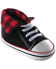Luvable Friends Hi-Top Sneakers, Red, 0-18 Months