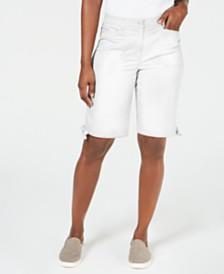 "Karen Scott Tie-Hem 12"" Shorts, Created for Macy's"