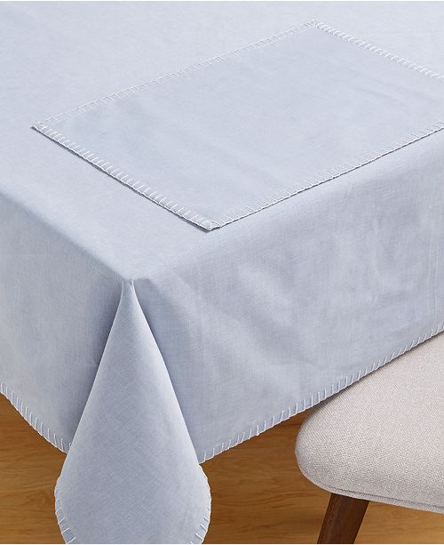 Martha Stewart Collection Chambray Table Linen Collection, Created for Macy's