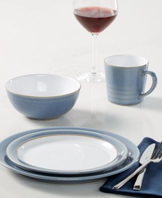 Natural Denim 12-Pc. Dinnerware Set, Service for 4