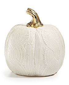 Harvest Large Ceramic White Pumpkin, Created for Macy's