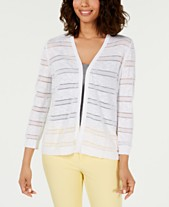 9f05c0da8f24f Charter Club Pointelle-Striped Cardigan