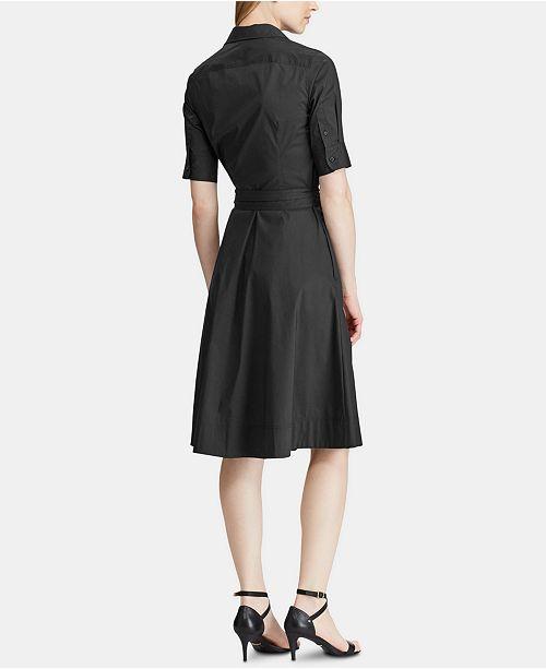 a0b0dba30513 Lauren Ralph Lauren Petite Fit   Flare Shirtdress   Reviews ...