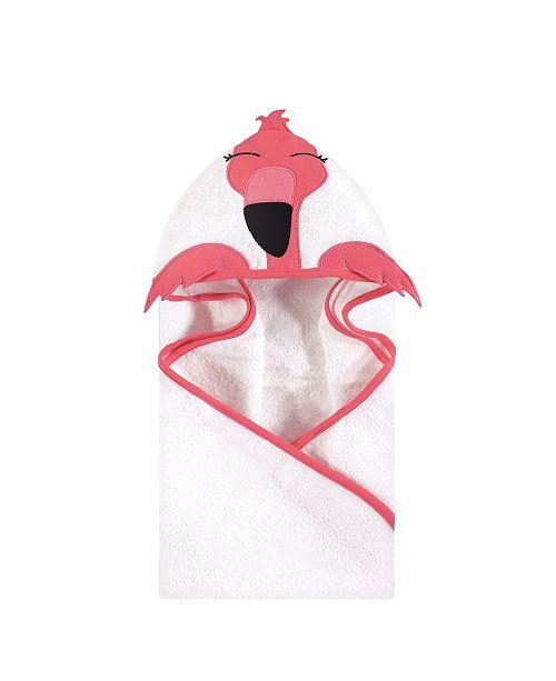 Hudson Baby Unisex Baby Animal Face Hooded Towel, Modern Flamingo 1-Pack, One Size
