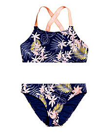 Roxy Girls Bikini Point Crop Top Bikini Set