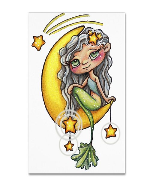 "Trademark Global Jennifer Nilsson She Hangs the Stars Canvas Art - 11"" x 14"" x 0.5"""