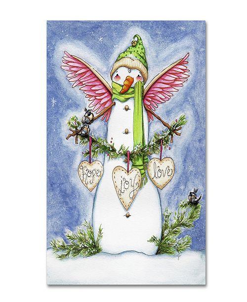 "Trademark Global Jennifer Nilsson Snow Angel Canvas Art - 14"" x 19"" x 2"""