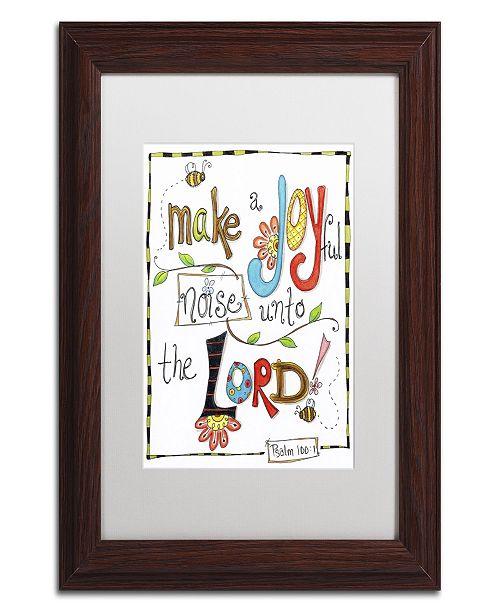 "Trademark Global Jennifer Nilsson Words of Joy - Joyful Noise Matted Framed Art - 11"" x 14"" x 0.5"""