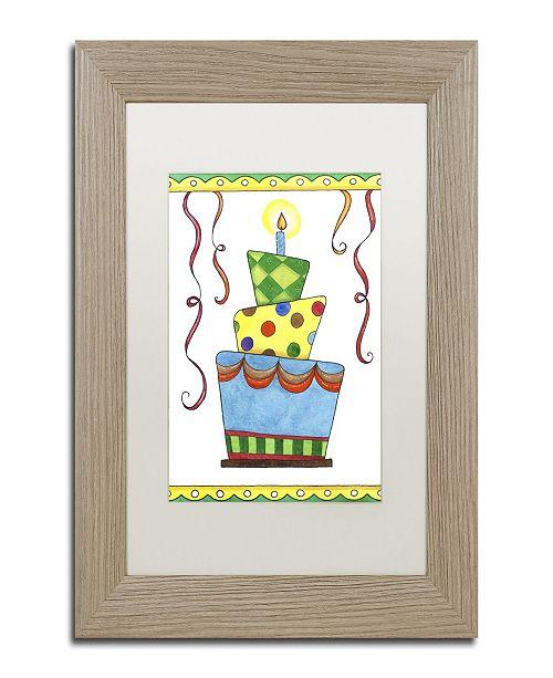 """Trademark Global Jennifer Nilsson Birthday Cake 1 Matted Framed Art - 16"""" x 20"""" x 0.5"""""""
