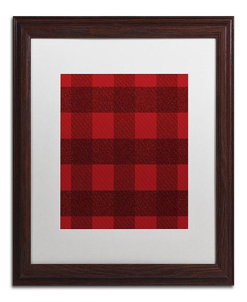 "Trademark Global Jennifer Nilsson Red Buffalo 1 Matted Framed Art - 16"" x 16"" x 0.5"""