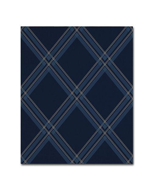 "Trademark Global Jennifer Nilsson Dk Blue Diamond Canvas Art - 11"" x 14"" x 0.5"""
