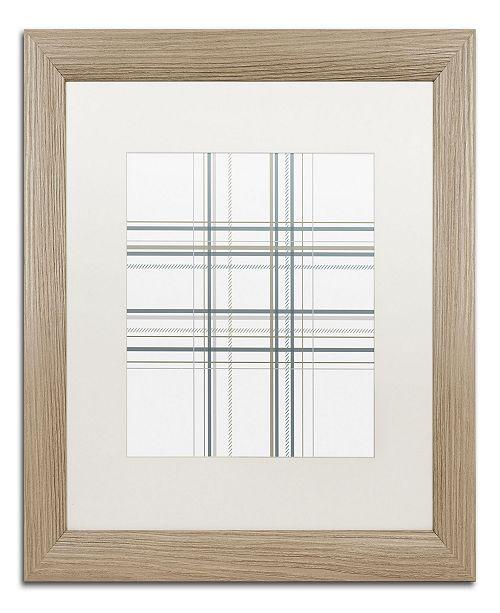 "Trademark Global Jennifer Nilsson Dashed Line Pale Gray Matted Framed Art - 16"" x 20"" x 0.5"""