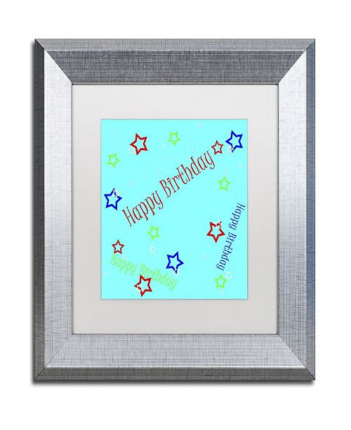"Trademark Global Jennifer Nilsson Star Boy Birthday Matted Framed Art - 11"" x 14"" x 0.5"""