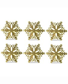 Snowflake Napkin Ring, Set of 6