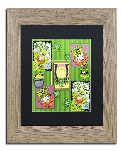 "Trademark Global Jennifer Nilsson St Patty Collage Matted Framed Art - 16"" x 16"" x 0.5"""