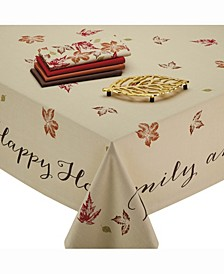 Rustic Leaves Print Tablecloth