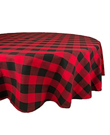 "Buffalo Check Tablecloth 70"" Round"