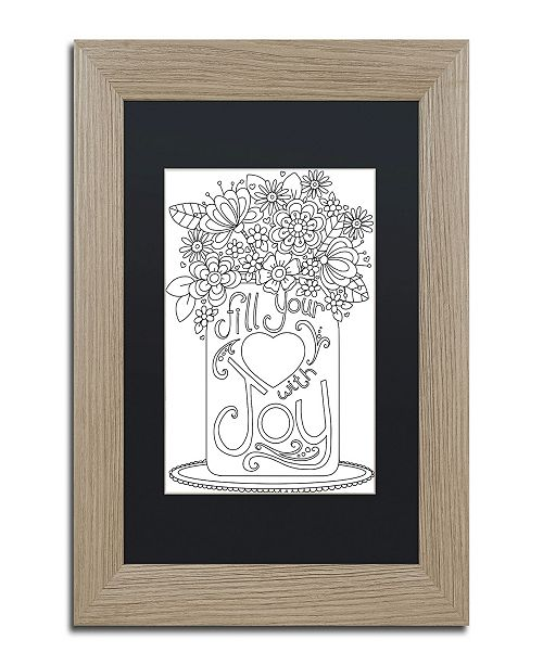 "Trademark Global Jennifer Nilsson Fill Your Heart with Joy Matted Framed Art - 11"" x 14"" x 0.5"""