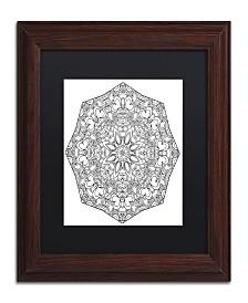 "Kathy G. Ahrens Sublime Mandala Matted Framed Art - 11"" x 11"" x 0.5"""