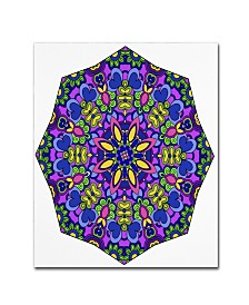 "Kathy G. Ahrens Sublime Sunshine Mandala Canvas Art - 16"" x 16"" x 0.5"""