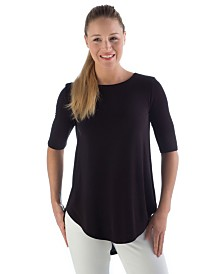 YALA Sandy Relaxed Fit Scoop Neck Short Sleeve Viscose from Bamboo Top