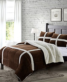 Dalton King Sherpa 3 Piece Comforter Set