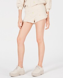 Free People Movement Fleece Star-Print Shorts