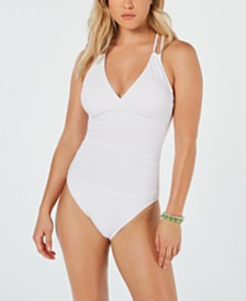 La Blanca Island Goddess Underwire Tummy Control Cross-Back One-Piece Swimsuit