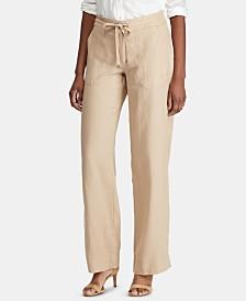 Lauren Ralph Lauren Petite Drawcord-Waist Linen Pants