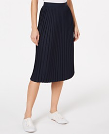 Lacoste Pleated Taffeta Skirt
