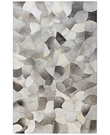 "Cowhide HID-7 Grey 2'6"" x 8' Runner Area Rug"