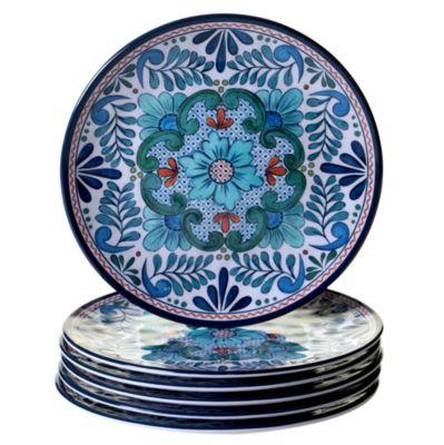 Talavera 6-Pc. Melamine Salad Plate