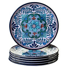 Certified International Talavera 6-Pc. Melamine Salad Plate