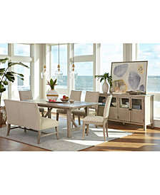 Parker Expandable Dining Furniture, 6-Pc. Set (Table, 4 Side Chairs & Bench), Created for Macy's