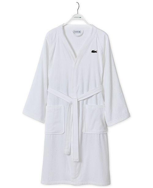 20325d065b Lacoste Home Pique Bath Robe   Reviews - Macy s