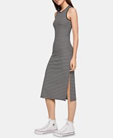 BCBGeneration Striped Midi Tank Dress