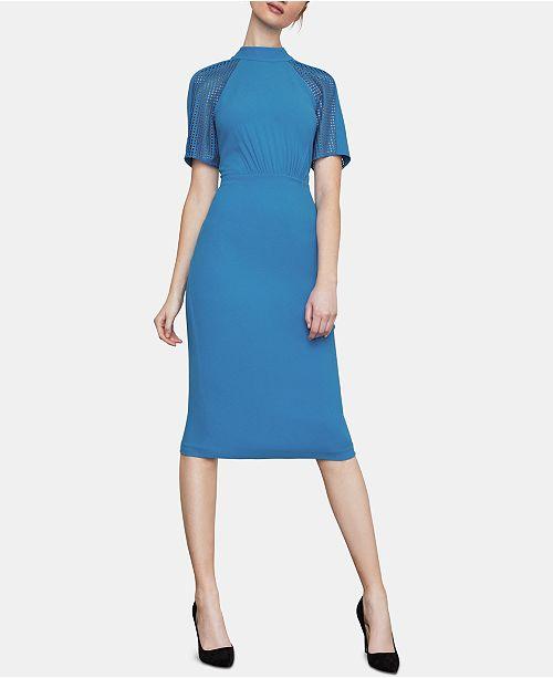 c08d56a01f59 BCBGMAXAZRIA Lace-Inset Sheath Dress & Reviews - BCBGMAXAZRIA ...