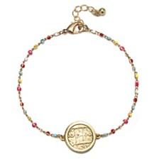 Capwell & Co. Beaded Coin Bracelet