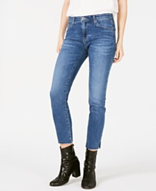 AG Adriano Goldschmied Prima Frayed-Hem Ankle Jeans