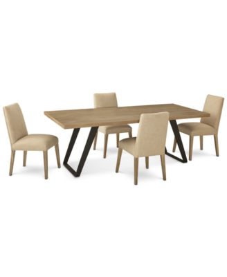 Clarita Dining Furniture, 5-Pc. Set (Table & 4 Side Chairs), Created for Macy's