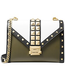 MICHAEL Michael Kors Whitney Pyramid-Stud Shoulder Bag