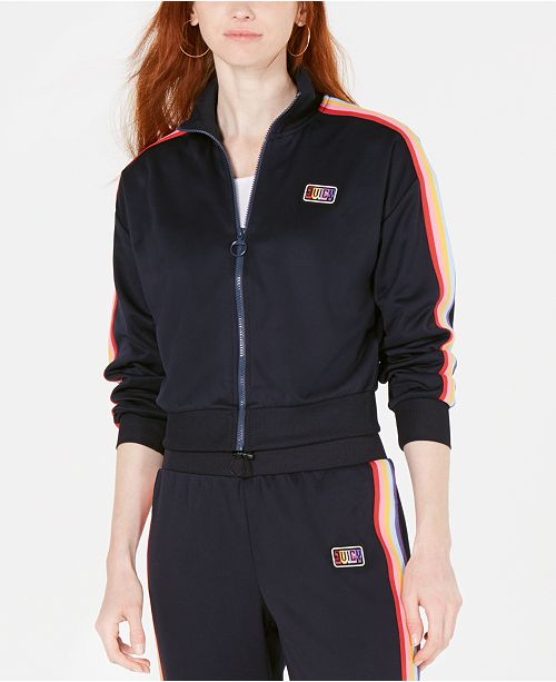 cea961f0 Juicy Couture Rainbow Striped Track Jacket & Reviews - Jackets ...
