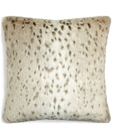 "CLOSEOUT!  Grace Faux-Haircalf 20"" x 20"" Decorative Pillow"
